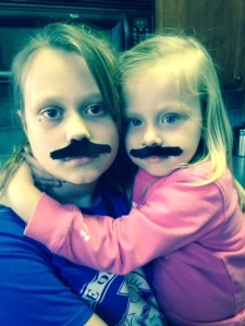 girls with moustache